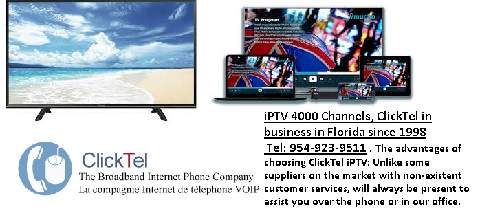 International IPTV Service - Clicktel - English